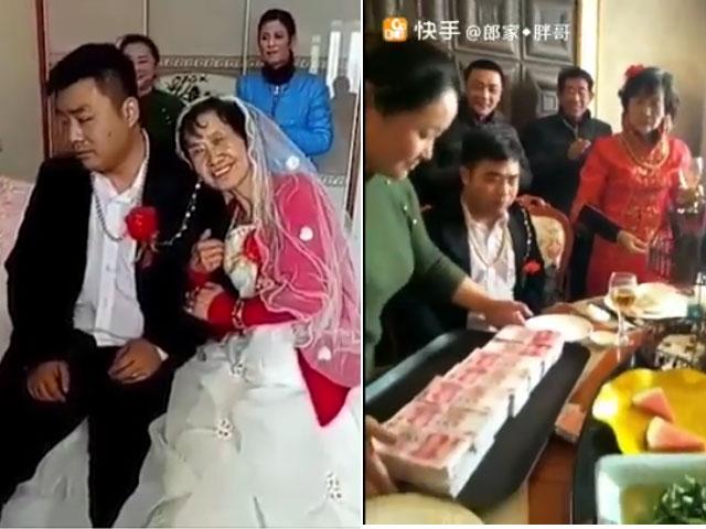 Clip trai trẻ lộ rõ bản chất trong đám cưới với người vợ lớn tuổi