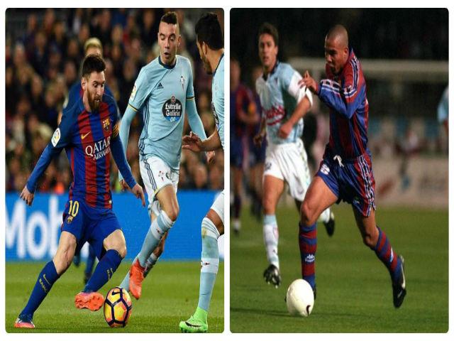 """Messi solo ghi siêu phẩm từ giữa sân: Thổn thức nhớ Ro """"béo"""""""