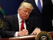 Trump kí lệnh cấm nhập cư mới nhằm vào 6 nước Hồi giáo