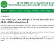 Tin tức trong ngày - Tặng hoa hồng, miễn phí vé cho khách nữ đi xe buýt ở SG