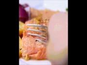 Cá hồi nướng măng tây - món ngon giúp nàng thêm cuồng nhiệt