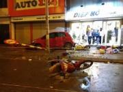 Tin tức trong ngày - Ô tô loạng choạng, đâm hàng loạt xe trên phố Hà Nội