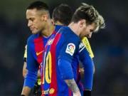 """Bóng đá - Barca thua đau, Messi """"giận cá chém thớt"""" với Neymar"""