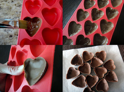 Chocolate trái tim đơn giản mà lãng mạn cho ngày Valentine trắng - 3