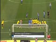 Bàn thắng đẹp V24 Bundesliga: Siêu phẩm đá phạt hạ Dortmund