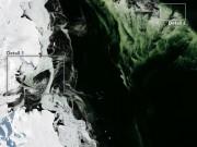 Thế giới - Phát hiện tảng băng xanh lá khổng lồ tiến về phía Nam Cực