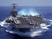"""Thế giới - Uy lực siêu tàu sân bay 10 vạn tấn tới """"dọa"""" Triều Tiên"""