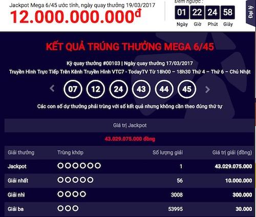 """Xổ số Vietlott: Tìm thấy giải jackpot """"khủng"""" thứ 18"""