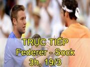Thể thao - Chi tiết Federer – Sock: Định đoạt bằng tie-break (KT)