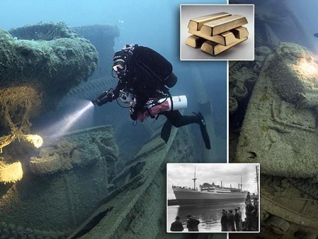 Anh: Trục vớt kho vàng 5,5 tỷ USD trong hàng loạt tàu đắm