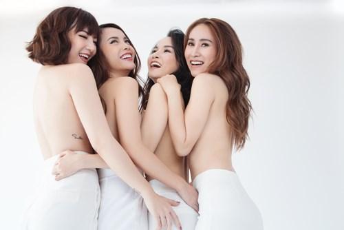 Giận nhau 10 năm, Yến Trang bất ngờ chụp ảnh nude cùng Mây Trắng - ảnh 1