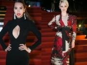 Thời trang - Hà Anh diện váy khoét rộng hoác, đọ dáng Coco Rocha