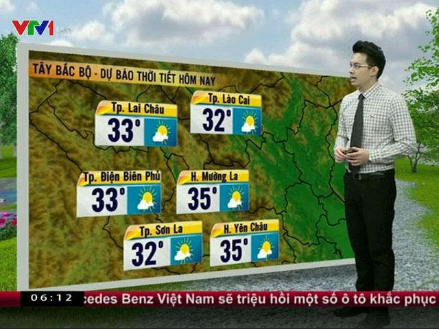 Dự báo thời tiết VTV 23/3: Bắc Bộ tăng nhiệt, chuyển nắng mạnh