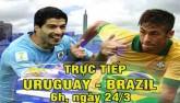Chi tiết Uruguay – Brazil: Paulinho thăng hoa (KT)
