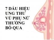 Sức khỏe đời sống - 7 dấu hiệu ung thư vú rõ mồn một phụ nữ thường bỏ qua
