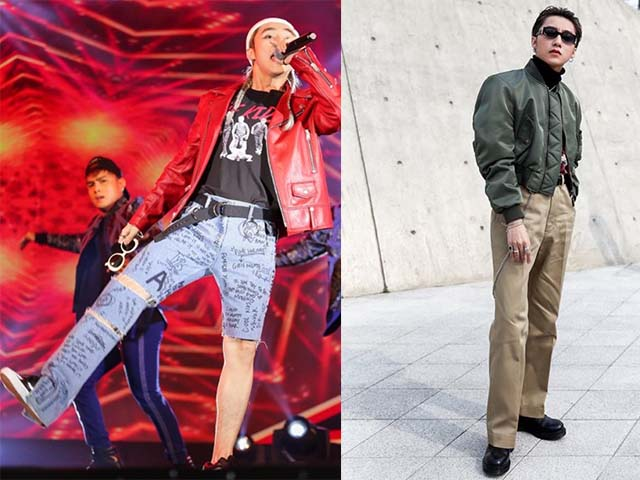 """Chán """"quần cụt"""" Sơn Tùng mặc """"quần của bố"""" dạo phố Hàn"""
