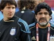 """Tiết lộ: Messi lĩnh án nặng vì Maradona  """" đâm lén """""""