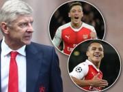 Wenger: Arsenal không cần lo tương lai Sanchez, Ozil