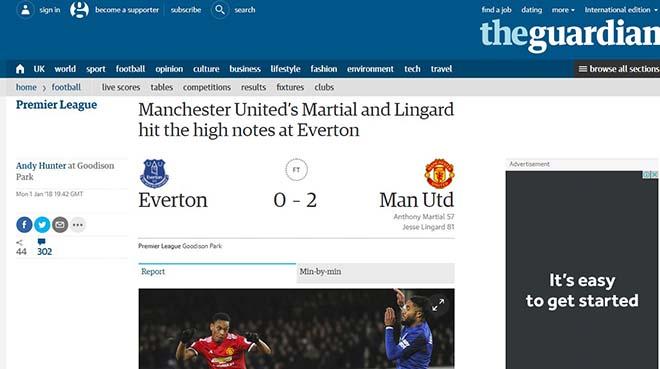 """MU hạ Everton: Báo chí Anh mừng như """"bắt được vàng"""", khen Mourinho hết lời 3"""
