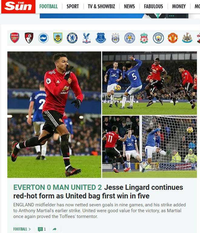 """MU hạ Everton: Báo chí Anh mừng như """"bắt được vàng"""", khen Mourinho hết lời 7"""