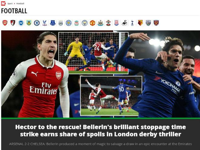 """Arsenal - Chelsea hòa nghẹt thở: Báo chí """"sướng rơn"""", khen người hùng giấu mặt 1"""