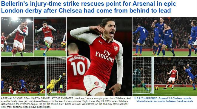 """Arsenal - Chelsea hòa nghẹt thở: Báo chí """"sướng rơn"""", khen người hùng giấu mặt 2"""