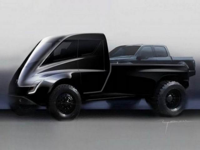 Tesla hé lộ ý định làm xe bán tải - 1