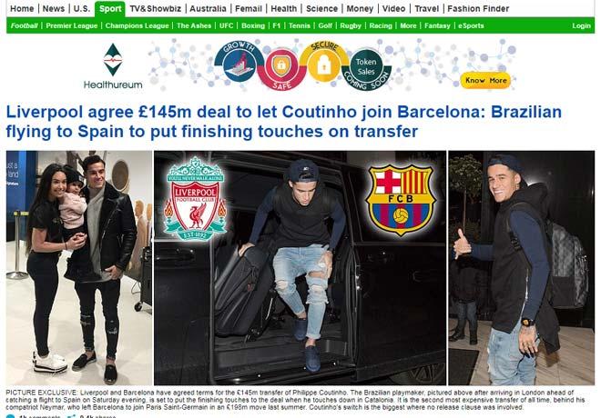 Báo chí thế giới: Barca có Coutinho, mở ra giai đoạn thống trị mới 2