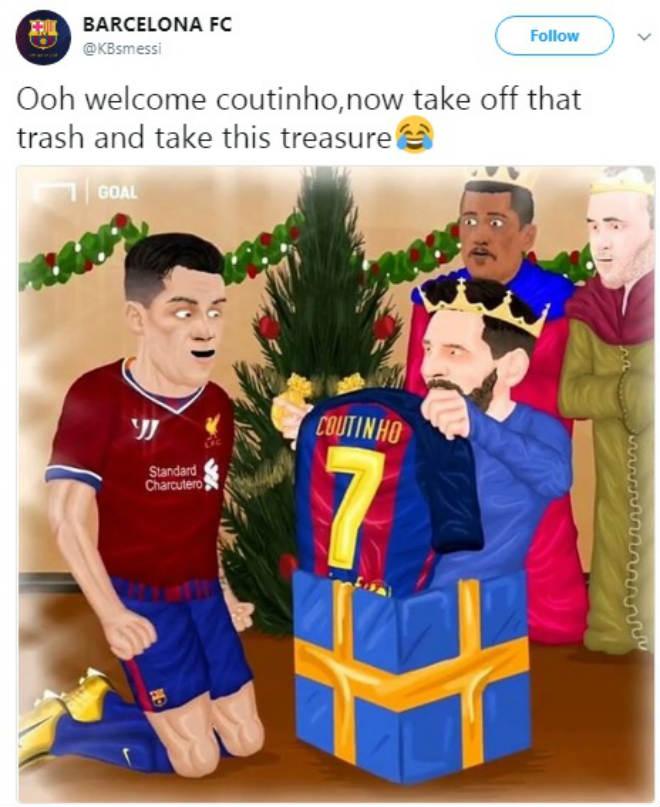 """Bom tấn"" Coutinho gia nhập Barca: Vua Messi trao áo số 7, fan Liverpool tri ân 7"