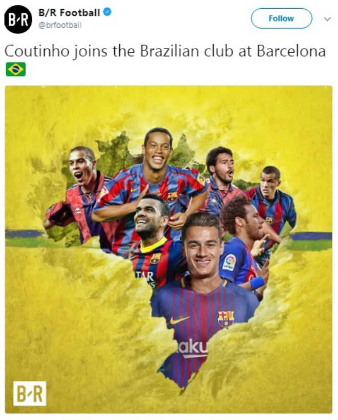 """Bom tấn"" Coutinho gia nhập Barca: Vua Messi trao áo số 7, fan Liverpool tri ân 2"