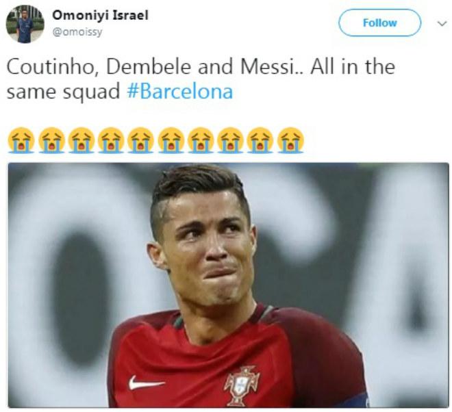 """Bom tấn"" Coutinho gia nhập Barca: Vua Messi trao áo số 7, fan Liverpool tri ân 6"