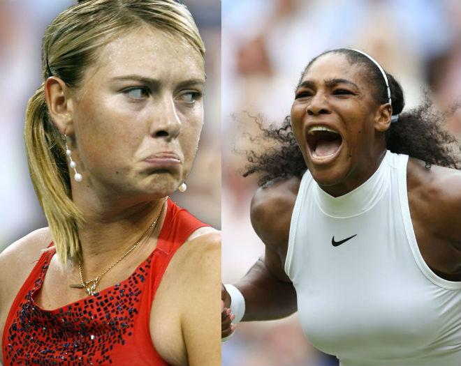 Không đội trời chung: Sharapova ghét Serena, hủy đóng phim bom tấn 2