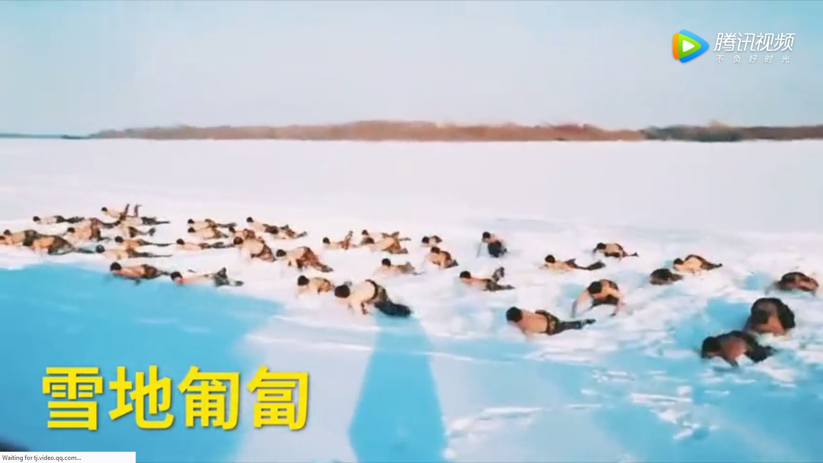 Lính TQ cởi trần, lăn lê trên tuyết giữa trời âm 20 độ