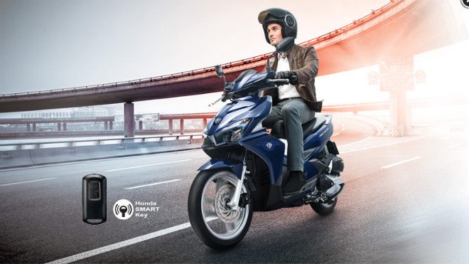 Chi tiết 2018 Honda Air Blade màu mới dạng xanh ngọc - 1