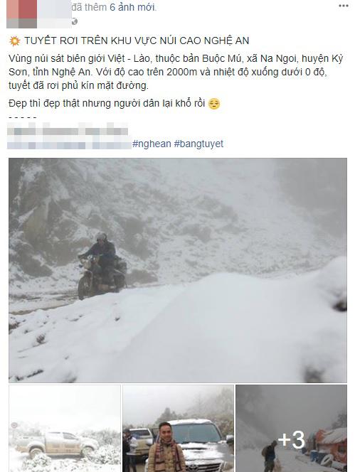 Thực hư thông tin tuyết rơi trắng đỉnh núi ở Nghệ An - 1