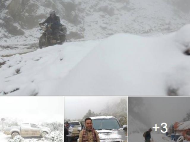 Thực hư thông tin tuyết rơi trắng đỉnh núi ở Nghệ An