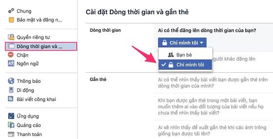 Cách chặn người khác tag trên Facebook - 3