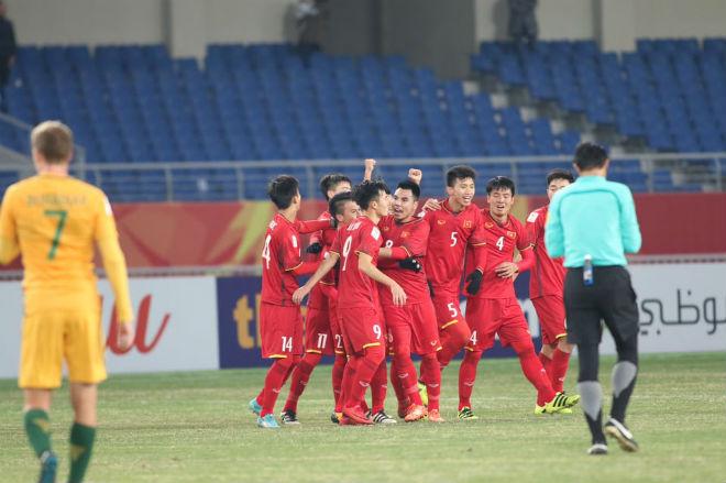U23 Việt Nam lên đồng thắng U23 Úc: Chấn động châu Á, rộng cửa vào tứ kết - 1