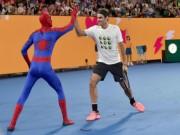 Thể thao - Australian Open: Federer đánh cặp Người nhện, nô đùa với Djokovic