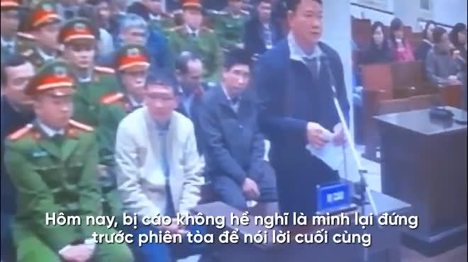 Clip: Nói lời sau cùng, ông Đinh La Thăng nhắc đến nhiều món nợ còn dang dở
