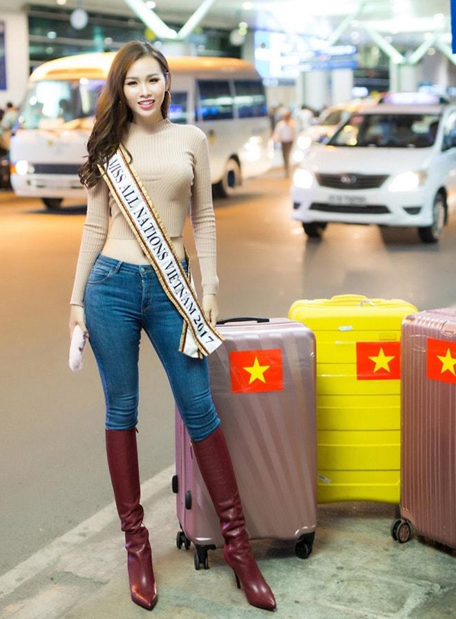 Kiều nữ Sài Thành có vòng 3 gần 1 mét bất ngờ đăng quang Á hậu các quốc gia 2017 - 2