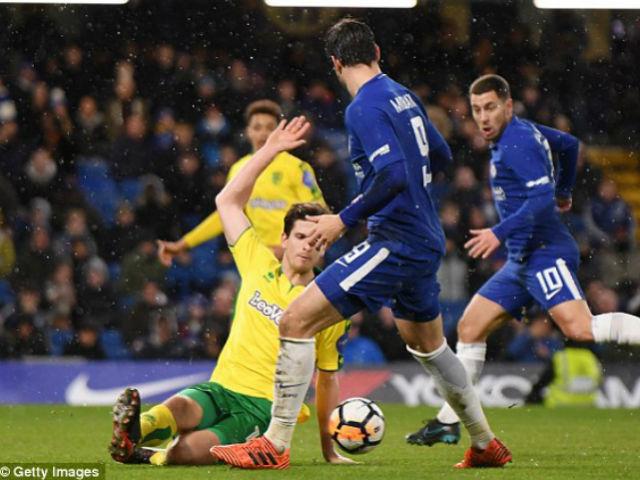 """Morata """"chân gỗ"""" & ăn vạ, Conte – Chelsea nổi điên vì thẻ đỏ 4"""