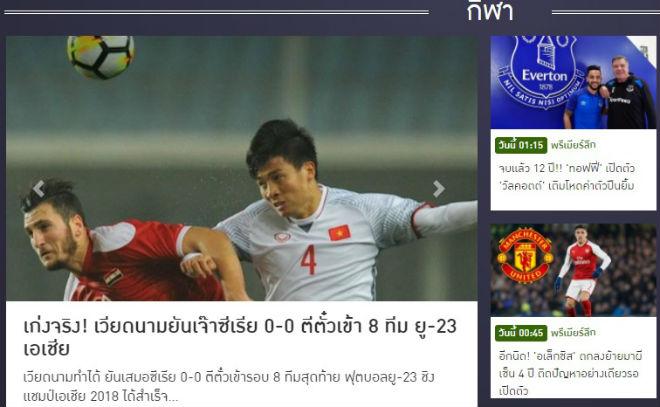U23 Việt Nam vào tứ kết: Báo chí Thái Lan đưa Quang Hải lên trang nhất - 3