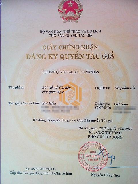 """Vì sao PGS Bùi Hiền được cấp bản quyền cải tiến """"tiếw Việt""""? - 2"""