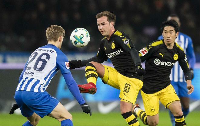 Hertha Berlin - Dortmund: (vòng 19 Bundesliga)