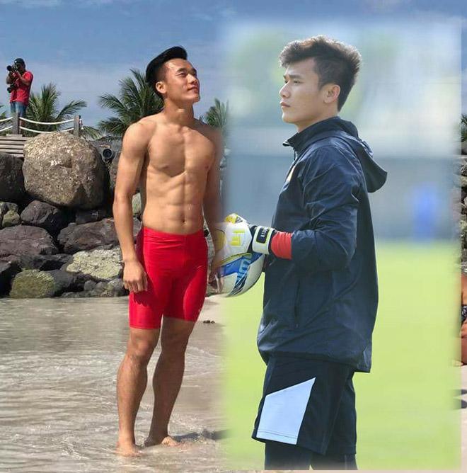 Cơ bụng 6 múi hấp dẫn của thủ môn Bùi Tiến Dũng U23 Việt Nam