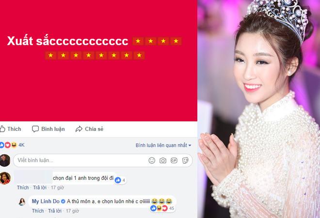 """Phương Trinh, hoa hậu Mỹ Linh """"thả thính"""" Bùi Tiến Dũng - 2"""
