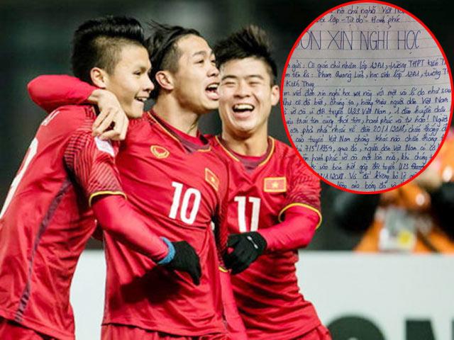 Đơn xin nghỉ học để xem U23 Việt Nam đá bán kết gây xôn xao