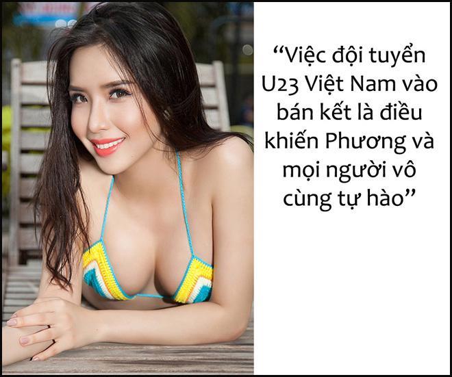 Hoa, á hậu Việt nô nức chúc đội tuyển U23 Việt Nam chiến thắng! - 1