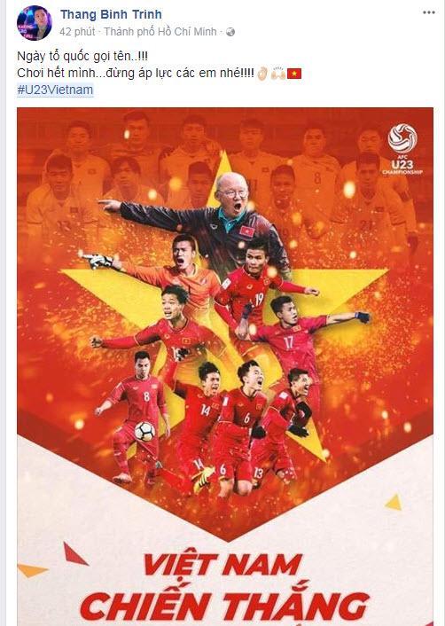 Sao Việt hạnh phúc vỡ òa khi U23 Việt Nam thắng Qatar